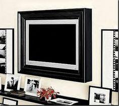 DIY -- build a frame around your Flat Screen.