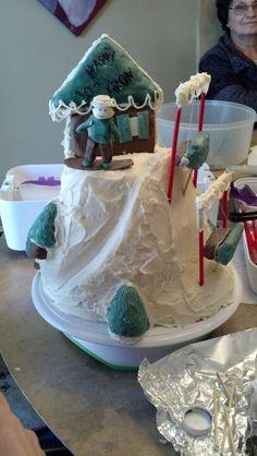 Snowboard cake recipe