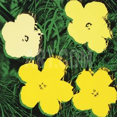 Flowers, 1970 (4 Yellow) Art Print by Andy Warhol at Art.com