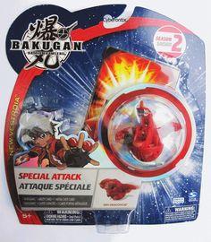 Bakugan SPIN DRAGONOID Red Pyrus Special Attack NEW Battle Brawler 2009 Unopened #SpinMaster #Bakugan #Cyberontix