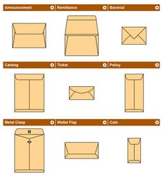 Types of Envelopes: names, descriptions, and dimensions