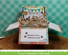scalloped box card pop-up | Lawn Fawn