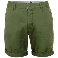 TOPMAN Khaki Distressed Skinny Chino Shorts ($44) ❤ liked on ...