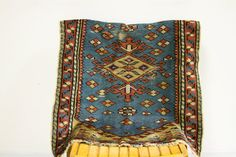 Teal Blue Vintage Turkish Rug Mat by oldnewhouse on Etsy, $285.00