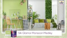 Nature is bursting with life with the magical rains blessing us every day. So why not bring nature home by painting your interiors in a combo of light green and white, accented with real plants and nature-inspired décor? Share your monsoon home décor ideas with us using #SilkGlamorMonsoonMedley. #BergerPaints #PaintYourImagination