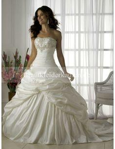 Charmant Trägerloser Ausschnitt Princess-Stil Brautkleider WD0015 - Brautkleiderkaufen.DE
