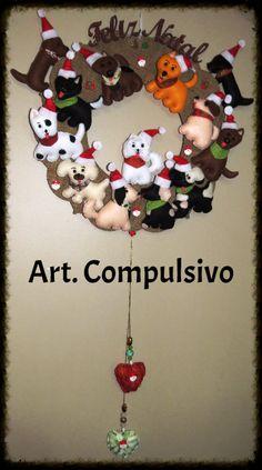 Guirlanda Feliz Natal coleção Cachorro