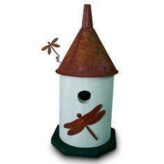 Could make this myself - This is $90 Find it at the Foundary - Round Dragonfly Tin Man Birdhouse