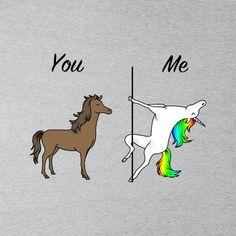 08c36bd89d496d You Me Horse And Unicorn Men s T-Shirt. Cloud City 7