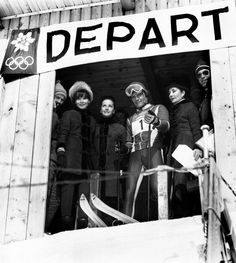 Audrey Hepburn pictured with friends Doris Brynner, Countess Jacqueline de Ribes, and acclaimed ski racer Jean-Claude Killy at Winter Olympic Games in Chamrousse, France. February 14, 1968.