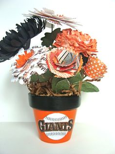 SF Giants Bouquet-If anyone would like to make this for me I'd love you FOREVER! haha