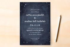Constellations Wedding Invitations by SimpleTe Design at minted.com