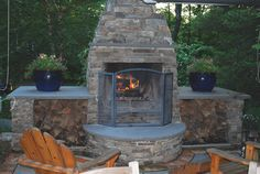 Small Outdoor Fireplace   Backyard Fireplaces Now Rival Those Inside The Home - The Paramus Post ...