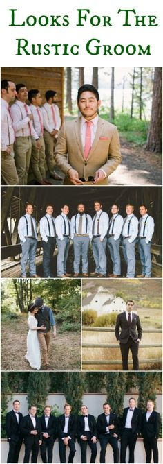 Looks For The Rustic Groom