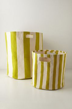 Candy-Striped Basket #Anthropologie #PinToWin