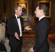 One of the first people he spoke to was Benedict Cumberbatch, who later said he felt 'guilty' for spending so much time chatting to him, adding 'He is just a stand up guy' 5/13/2014