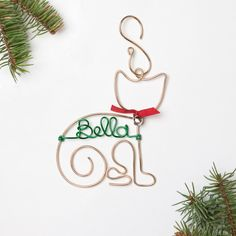 Don't forget your favorite pets this holiday season! Our personalized ornaments make the perfect gift for your own pet or any cat lover on your shopping list. These wire ornaments are handcrafted from