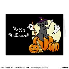 Shop Halloween Chocolate Labrador Cartoon 2 Card created by HappyLabradors. Halloween Chocolate, Dog Halloween, Black Labrador Retriever, Retriever Puppies, Dog Costumes, Cartoon Dog, Dog Quotes, Pet Store, Custom Greeting Cards