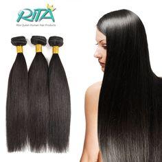 1 Gói Peru Trinh Tóc Thẳng Rita Nữ Hoàng Tóc Sản Phẩm Natural Đen Giá Rẻ 50 gam Straight Human Hair Gói Mềm tóc