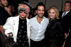 Madonna with Lady Gaga and Marc Jacobs during the Marc Jacobs 2010 Spring Fashion Show, September 14th, 2009.
