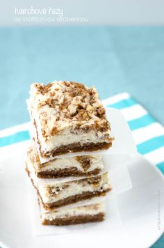 tvarohové řezy se skořicovou drobenkou Krispie Treats, Rice Krispies, Oreos, Tiramisu, Cheesecake, Baking, Ethnic Recipes, Food, Brownies