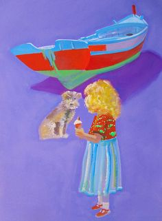 Girl Painting - Ice Cream by Charles Stuart