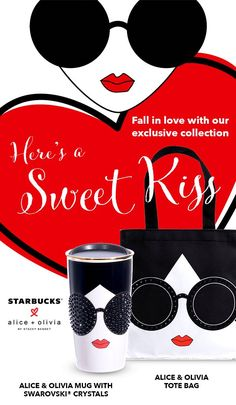 Exclusive Collection, Alice Olivia, Drink Sleeves, Starbucks, Falling In Love, Tote Bag, Mugs, Crystals, Tumblers