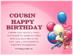 Happy Birthday Cousin Quotes Share Great Free Birthday Cards For Cousin On Facebook  Pinterest