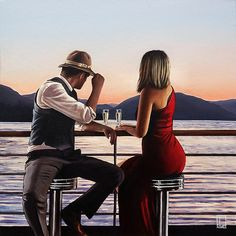 Richard Blunt Artist( make time . for precious nothing s as to communicate without speaking is understanding. Whats Wallpaper, Jack Vettriano, Paint Photography, Arte Popular, Fashion Mode, Couple Art, Romantic Couples, Beautiful Paintings, New Art
