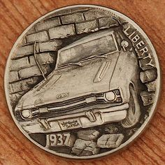 Aleksey Saburov - GTS Good Times 2013 Hobo Nickel, Coin Art, Antique Coins, Commemorative Coins, Coin Collecting, Sculpture Art, Turning, Liberty, Antiques