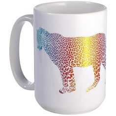 Abstract rainbow leopard Mug on CafePress.com