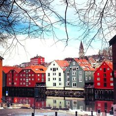 Fine byen. | RT @Patricia Smith Smith Nickens Derryberry Trondheim: #Trondheim, the colorful city. :-) Photo: Instagram user; @ tonehonorefiskvik pic.twitter.com/yVGpC9Li6d