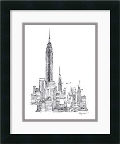 'Empire State' by Avery Tillmon Framed Graphic Art