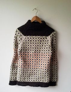 Top Down Raglan Sweater perfect for chilly days.