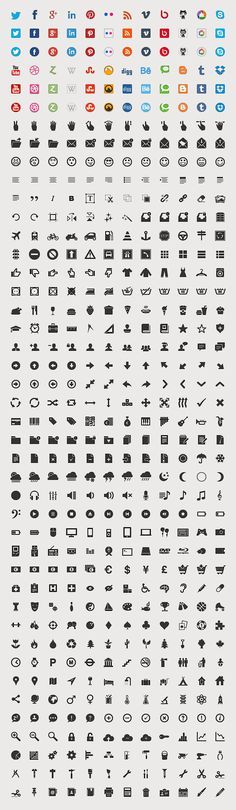Vector and webfont Social Media icons for free!
