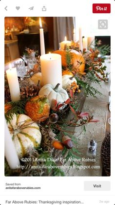 Far beyond rubies: Thanksgiving inspiration . - Far beyond rubies: Thanksgiving inspiration … - Thanksgiving Table Settings, Thanksgiving Centerpieces, Fall Table Centerpieces, Thanksgiving Ideas, Centerpiece Ideas, Wedding Centerpieces, Wooden Box Centerpiece, Decoration Table, Deco Champetre