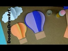 http://www.youtube.com/user/DoodleDrawArt Watch in HD: Watch this short video to learn how to make sweet hot air balloon wall decorations out of paper. Easy,...