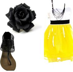 """""""black yellow"""" by kpowers823 on Polyvore"""