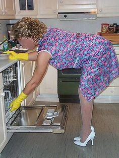 would like her to clean my dishes Sleep In Hair Rollers, Blouse Nylon, House Maid, Wet Set, Sissy Maid, Female Supremacy, La Red, Roller Set, Curlers