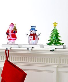 Holiday Lane Christmas Stocking Holder, Light Up Acrylic Figurine