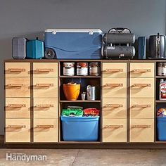 Looking for a good way to organize all those tools and supplies kicking around your garage? Check out these heavy-duty DIY garage storage drawers.