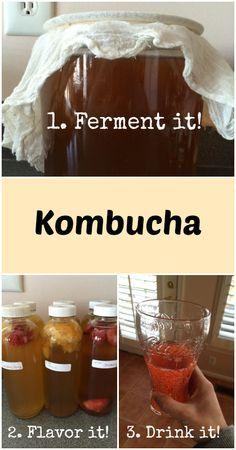 Adventures in Fermentation: Kombucha - Gutsy By Nature  #kombucha  Also check out: http://kombuchaguru.com