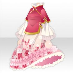 World Wide Land Taiwanese-style Frilled Flower Dress ver.A red Anime Outfits, Girl Outfits, Cute Outfits, Fashion Outfits, Fashion Line, Girl Fashion, Flower Dresses, Nice Dresses, Pelo Anime