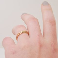 Single Pebble Ring in 14k Gold Fill - Recycled Metal $18.00