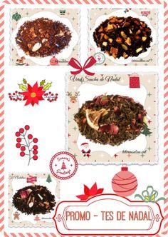 La Promos de Nadal - Tes Nadalencs! Emporta't un descompte del 30% comprant el nou Pack de tes nadalencs: Te Negre Nadalenc, Verd Sencha de Nadal, Pu-erh de Nadal i Rooibos Bon Nadal! Disponible des de les 0:00 del dc 18/12/14 fins les 0:00 del dj 08/01/15. Indispensable: Seguir-nos a Facebook/Twitter/Pinterest/Tumblr o registra't a teteriaonline.cat/. També per mail: teteriaonline@gmail.com.