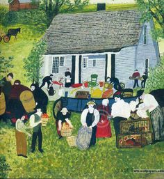 Moving Day on the Farm  Grandma Moses