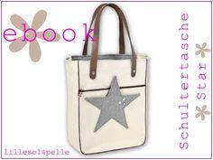 Ebook / Schnittmuster Schultertasche Star