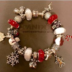 Pandora Christmas themed bracelet