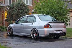 Mitsubishi Evolution hella flush style
