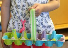 Kids can use recycled materials to make these easy homemade Easter baskets. They're perfect for a school or church Easter egg hunt!